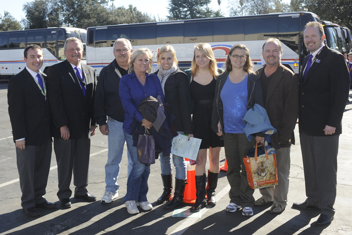 """The family of the late Dallas Cook of Orange County and the family of Cook's high school band director, Gregg Gilboe from Huntington Beach High School, attended Bandfest to see the WCU band perform. The WCU band will play the song """"You' in honor of Cook, who helped write the song for the ska band Suburban Legends in which he played."""