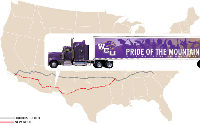 The band trucks made their way across New Mexico mid-day Tuesday, Dec. 28.