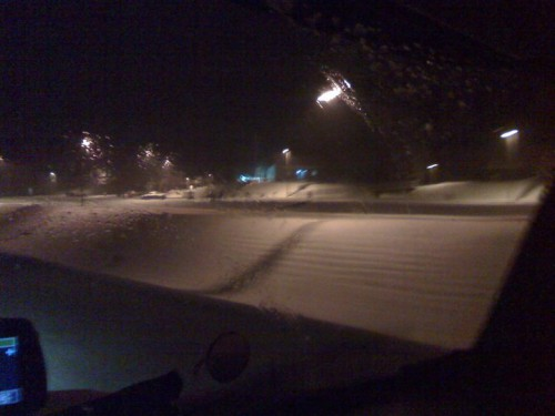 The band trucks left Waynesville in the snow about 4:30 a.m. Dec. 26.