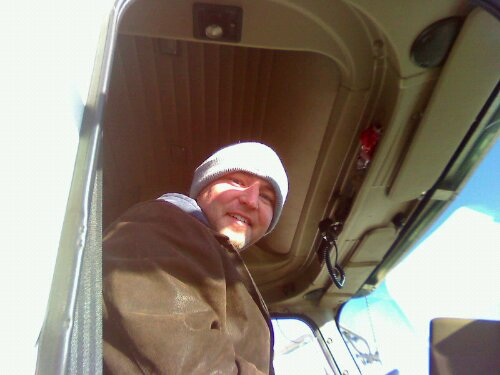 Jeremy Parker is another one of the band's seven truck drivers volunteering their time to drive equipment to California.