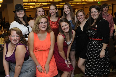 WCU band members celebrated New Year's Eve in style.