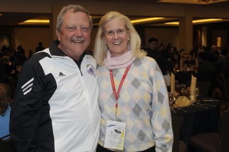 WCU band director Bob Buckner catches up with WCU alumna Catherine Dillard.