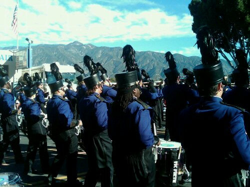 Matt Henley, assistant band director, shared this picture of the band taken during the Rose Parade.