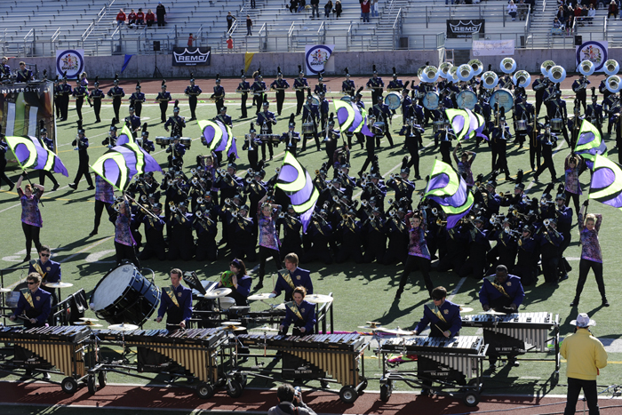 The WCU marching band performs Dec. 30 at Bandfest.