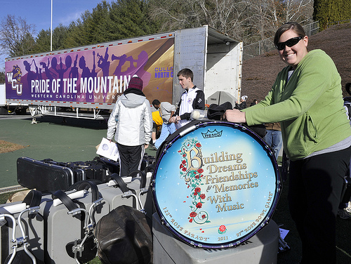Taylor Jandes, a junior from Clemmons, will play bass drum in the 2011 Rose Parade. Jandes is a music education major at Western Carolina University and alumna of Mount Tabor High School.