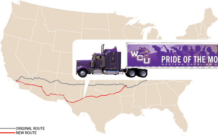 The trucks spent Monday, Dec. 27, driving across Texas and were about 6 hours from El Paso, Texas, by early evening.