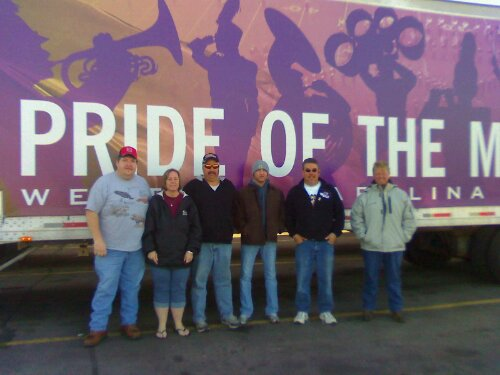 Drivers of the band trucks are volunteering their time to move band equipment across the country.