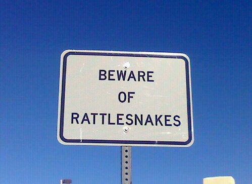The truck drivers saw this sign at a rest stop in New Mexico.